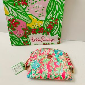 Lilly Pulitzer Waterside Cosmetic Case Flamingo